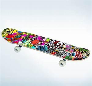 Sticker skateboard texture TenStickers