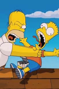 Hahahah Homer strangling Bart! | Simpsons | Pinterest