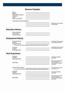 free fill in the blank resume resume cover letter example With free printable resume forms