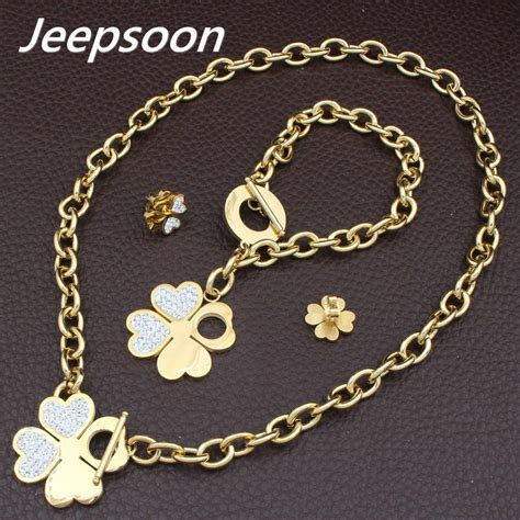 fashion jewelry stainless steel good luck  leaved