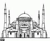 Boyama Moschee Moskee Colorear Mosque Grande Colorir Mezquita Mesquita Desenho Cami Edificios Camii Gebouwen Kleurplaten Hagia Sophia Resmi Construcciones Zeichnen sketch template