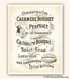 vintage bathroom decor cashmere bouquet soap ad vintage art
