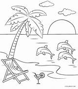 Coloring Beach Pages Printable Scene Cool2bkids Whitesbelfast sketch template