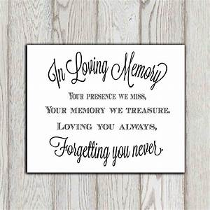 In loving memor... Remembrance Short Quotes