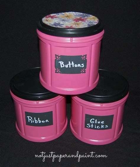 coffee can crafts 17 best ideas about plastic coffee cans on pinterest plastic coffee containers folgers coffee