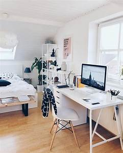 Bedroom, And, Workspace, Setup, By, Tinalkeen