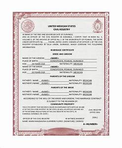 mexican marriage certificate images reverse search With mexican marriage certificate translation template