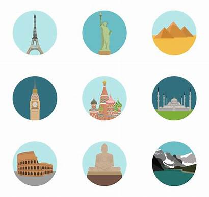 Landmark Icons Monuments Icon Travel International Packs