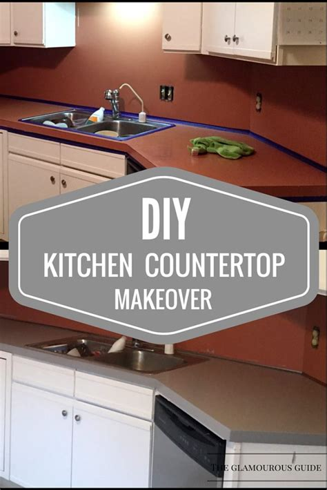 Diy Kitchen Countertop Makeover • The Glamourous Guide