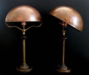 pair of bridges hames copper shade table lamps eclectic With table lamp z copper