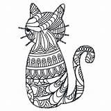 Mandala Animal Mandalas Coloring Pages Cat Fun Popular sketch template