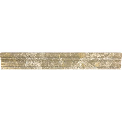 Shop Anatolia Tile Emperador Light Marble Chair Rail Tile