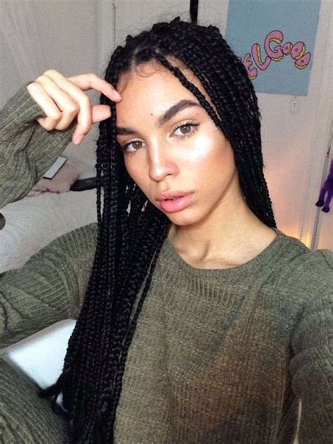box braids ideas  pinterest black braids box