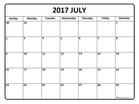 july calendar templates printable calendars