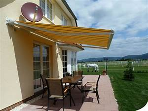 markise fur ihre terrasse rollomeisterde With markise balkon mit tapete steinoptik rot