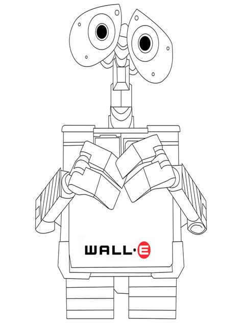 Coloring Wall by Wall E Coloring Pages And Print Wall E Coloring