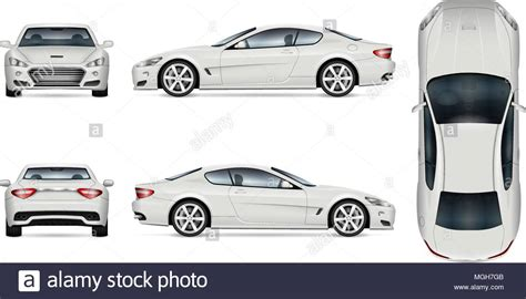 Car Vector Mock-up. Isolated Template Of Supercar On White