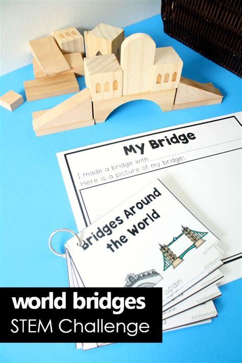 bridge building stem activities fantastic amp learning 725   World Bridges STEM Challenge Cards and Recording Plans preschool kindergarten STEM