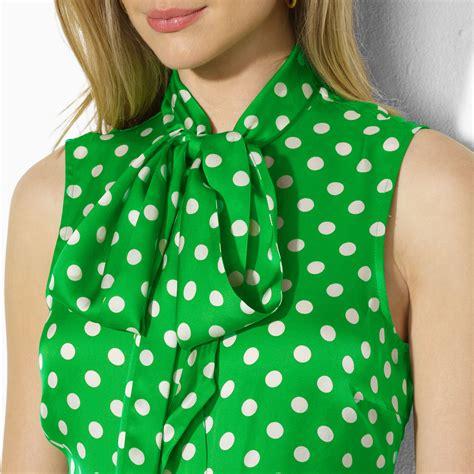 polka dot blouses by ralph sleeveless polka dot blouse in