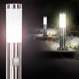 Stehlampe Mit Bewegungsmelder : gartenleuchte aussen stehlampe mit bewegungs sensor ~ Orissabook.com Haus und Dekorationen