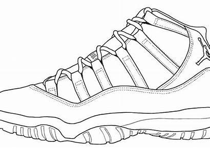 Nike Coloring Pages Shoes Jordan Air Retro