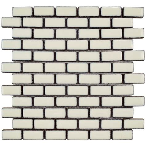 home depot merola subway tile merola tile essence subway ivory white 11 7 8 in x 12 in