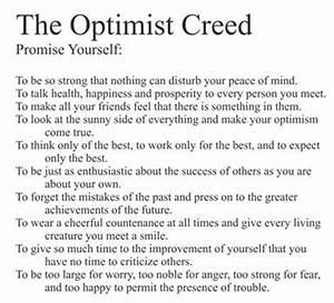 The Optimist Creed - Vinyl Wall Decal eBay