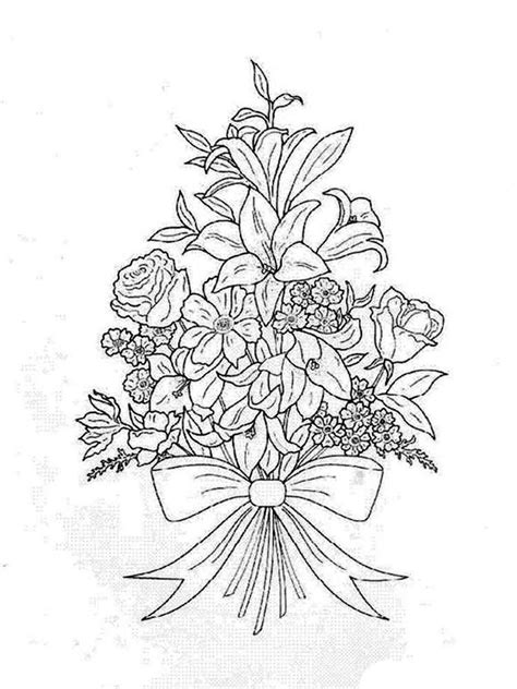 flower bouquet coloring pages   print flower