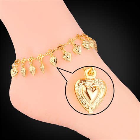 foot jewelry heart anklets  women romantic fashion