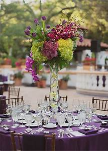 information about chartreuse and purple wedding