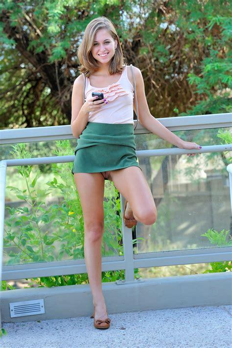 Riley In A Short Skirt Upskirt Luscious
