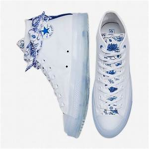 Converse X Lay Zhang China Blue And White Porcelain High
