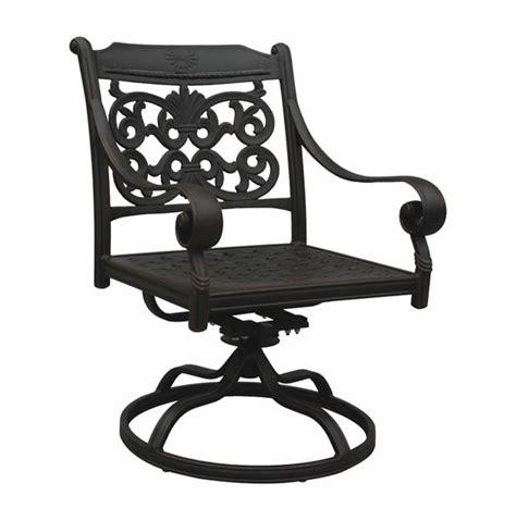 patio furniture rocker swivel cast aluminum arm chair dwl