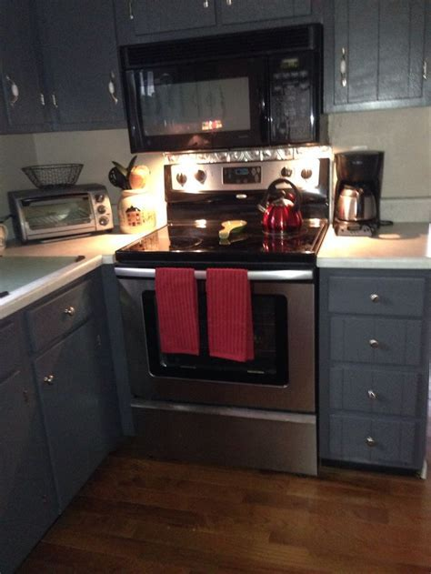 Grey cabinets (peppercorn from sherwin Williams)   House