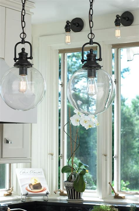 suspended kitchen cabinets clear glass globe industrial pendant glass globe clear 2620