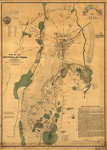Map Of The Battlefield Of Gettysburg
