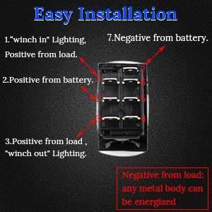7 Pin Rocker Switch Wiring Diagram Winch
