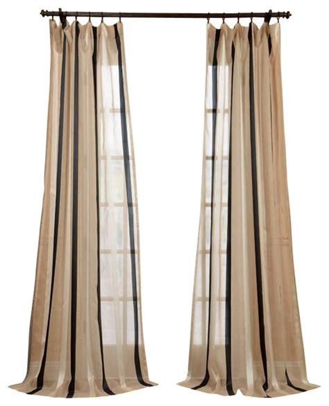 carlton linen blend stripe sheer curtain