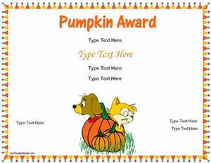 Blank Certificates - Autumn Award Certificate Template ...