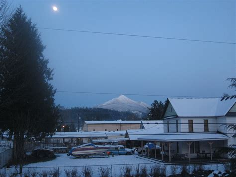 granite falls wa an evening view of the moutains photo