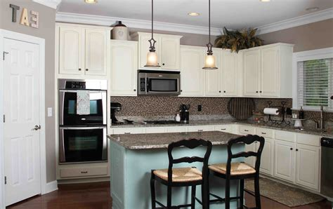 oak kitchen islands top implementation of kitchen wall colors with white