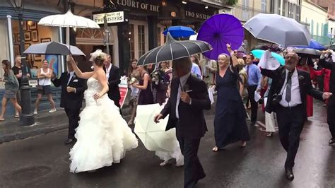 New Orleans Wedding Second Line Youtube