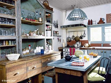 cuisine brocante décoration cuisine style brocante