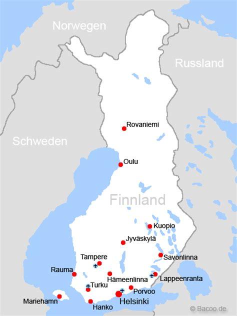 Finnland Karte von Finnland