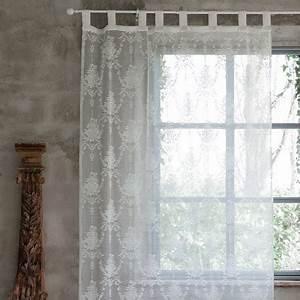 Rideau Blanc Cassé : rideau blanc cass annabel de chez blanc mariclo pour une d co shabby chic et romantique ~ Teatrodelosmanantiales.com Idées de Décoration