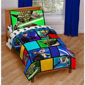 4pc wars wisdom toddler bedding set comforter sheets crib bedding decor