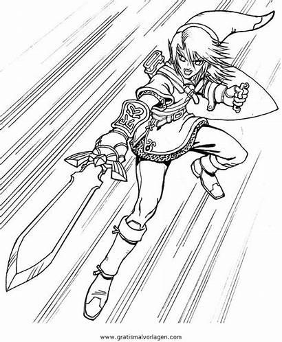 Zelda Coloring Link Ausmalbilder Breath Coloriage Wild