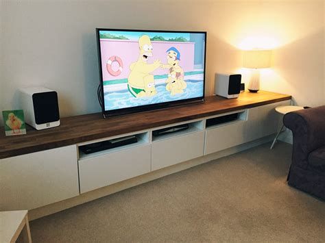 ikea tv display unit long tv unit custom built ikea hack using besta units on bespoke frame and the finished with a