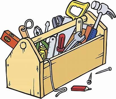 Toolbox Clipart Clip Vector Wood Werkzeugkasten Working