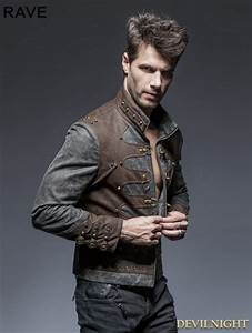 Steampunk Short Jacket for Men - Devilnight.co.uk